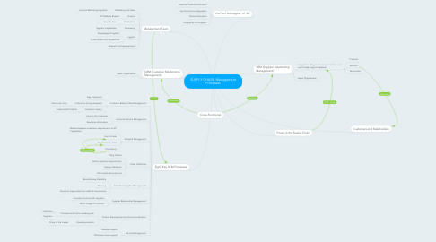 Mind Map: SUPPLY CHAIN: Management Processes