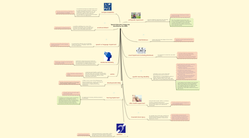 Mind Map: Special Education Categories identified by the IDEA