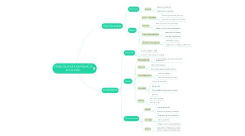 Mind Map: PROBLEMAS DE CONVIVENCIA EN EL PERÚ