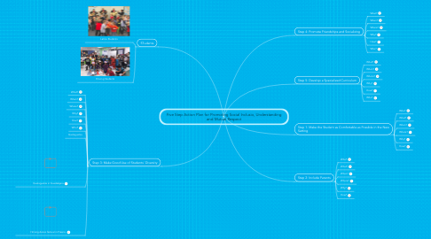 Mind Map: Five Step Action Plan for Promoting Social Inclusio, Understanding and Mutual Respect