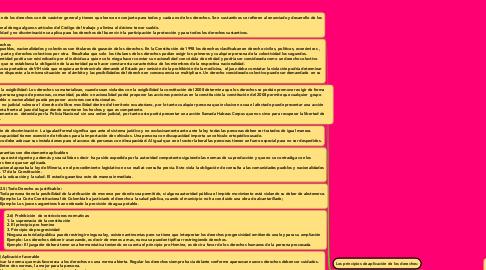 Mind Map: Los principios de aplicación de los derechos