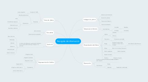 Mind Map: Recogida de información