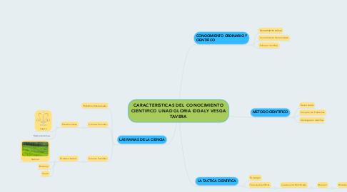 Mind Map: CARACTERISTICAS DEL CONOCIMIENTO CIENTIFICO UNAD GLORIA IDDALY VESGA TAVERA