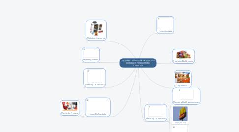 Mind Map: Copy of ESTRATEGIA DE DESARROLLO DE MARCA, PRODUCTOS Y SERVICIOS