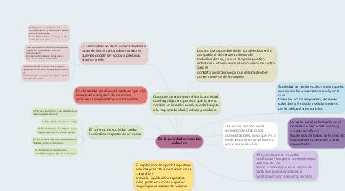 Mind Map: De la sociedad en nombre colectivo