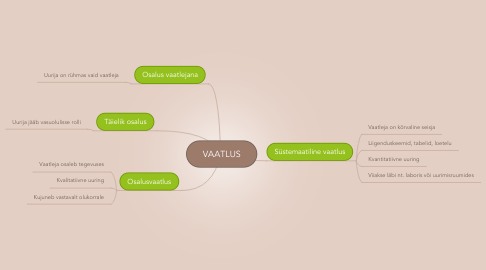 Mind Map: VAATLUS