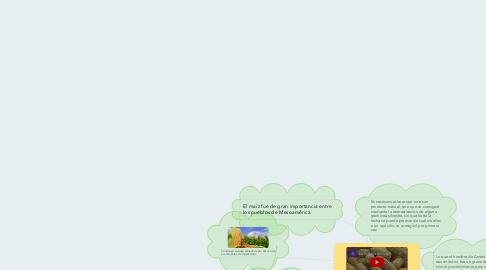Mind Map: LA IMPORTANCIA DEL MAÍZ