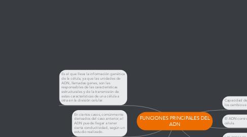Mind Map: FUNCIONES PRINCIPALES DEL ADN
