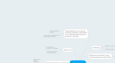 Mind Map: Socializacion