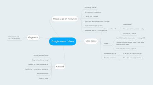 Mind Map: Zorgbureau Talent
