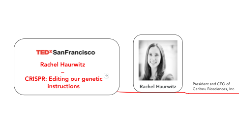 Mind Map: Rachel Haurwitz  –  CRISPR: Editing our genetic instructions
