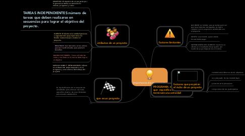 Mind Map: importancia de un proyecto