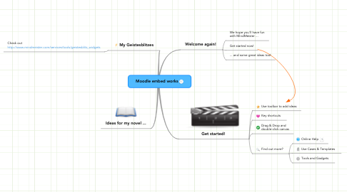 Mind Map: Moodle embed works