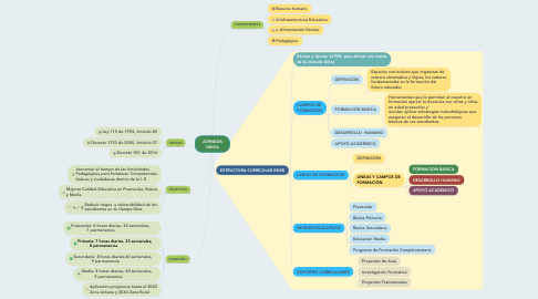 Mind Map: JORNADA UNICA