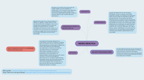 Mind Map: NEURO DIDACTICA