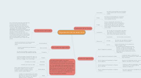 Mind Map: Organización de los seres vivos