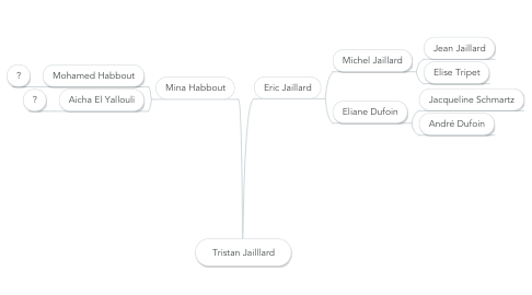 Mind Map: Tristan Jailllard