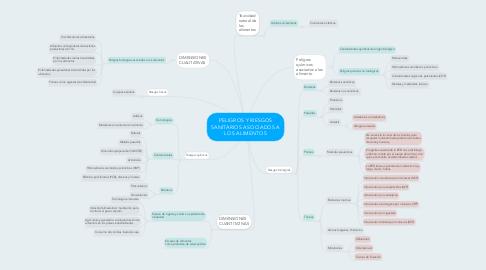 Mind Map: PELIGROS Y RIESGOS SANITARIOS ASOCIADOS A LOS ALIMENTOS