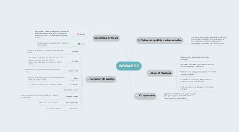 Mind Map: INFIRMIER(E)