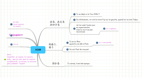 Mind Map: VOIR