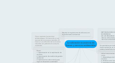 Mind Map: La valoración económica de bienes y servicios ambientales
