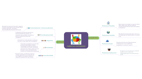 Mind Map: CURRICULO INTEGRADO