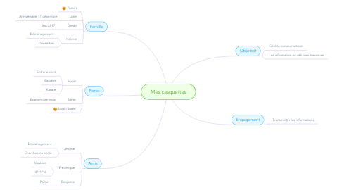 Mind Map: Mes casquettes