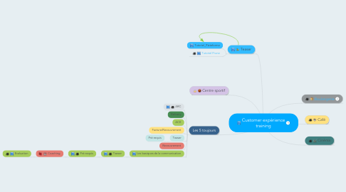 Mind Map: Customer expérience training