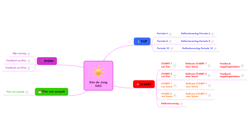 Mind Map: Kim de Jong OA3