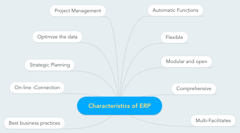 Mind Map: Characteristics of ERP