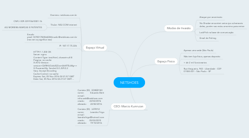 Mind Map: NETSHOES