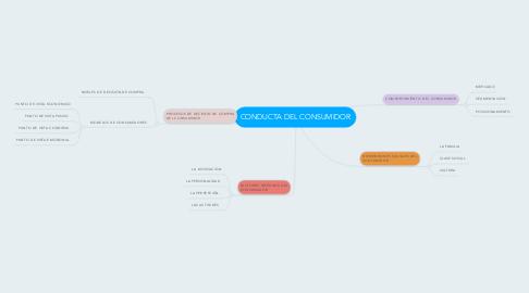 Mind Map: CONDUCTA DEL CONSUMIDOR