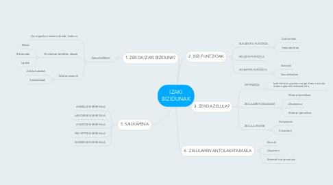 Mind Map: IZAKI BIZIDUNAK