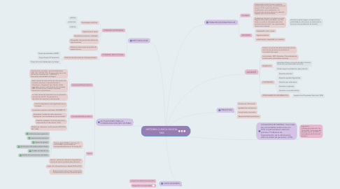 Mind Map: HISTORIA CLINICA DIGITAL SNS