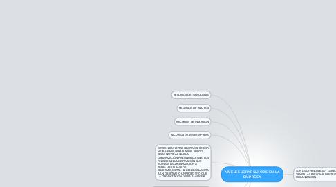 Mind Map: NIVELES JERARQUICOS EN LA EMPRESA