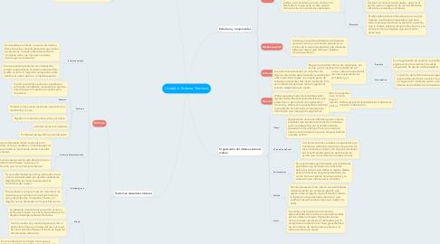 Mind Map: Unidad 6: Sistema Nervioso