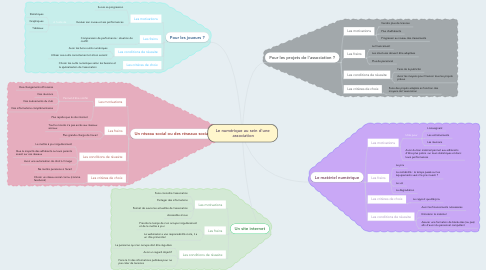 Mind Map: Le numérique au sein d'une association