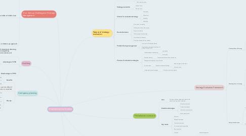 Mind Map: STRATEGY MONITORING