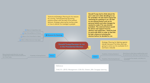 Mind Map: Donald Trump/Decision to run in the Presidential Election