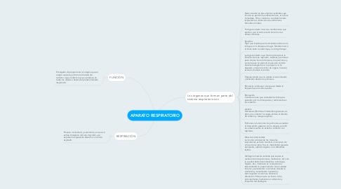 Mind Map: APARATO RESPIRATORIO