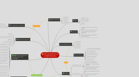Mind Map: EVALUACIÓN DE LAS COMPETENCIAS