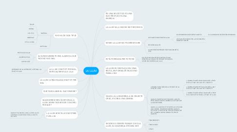 Mind Map: LA LLUM
