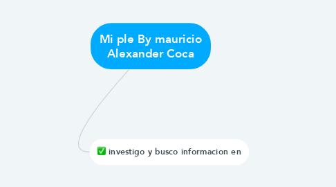 Mind Map: Mi ple By mauricio Alexander Coca