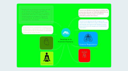 Mind Map: Sistemas en la Nutrición Humana.