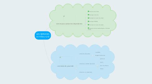Mind Map: LES SERVICES en milieu rural