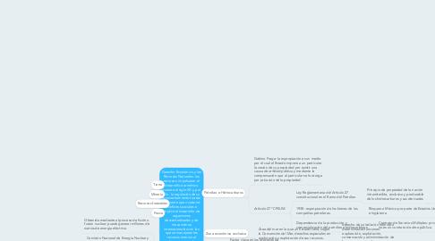 Mind Map: Derecho Económico y los Recursos Naturales: los recursos  impulsaron el desarrollo económico durante el siglo XX y, por ello, la regulación de su aprovechamiento fue tan relevante que ocasionó conflictos sociales e implicó el desarrollo de organismos descentralizados y de mecanismos internacionales con los que se manejaran los recursos entorno al bienestar social.
