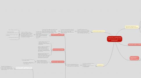 Mind Map: Evaluación y sostenibilidad organizacional a partir del presupuesto.