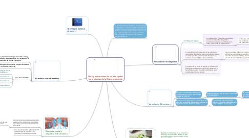 Mind Map: Usos y aplicaciones de las principales herramientas de la Macroeconomía.