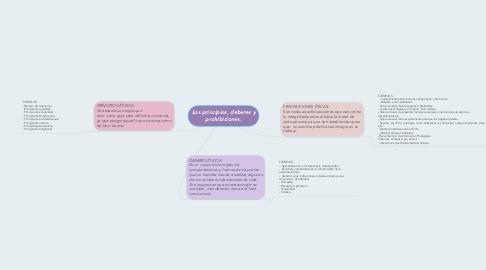 Mind Map: Los principios, deberes y prohibiciones.