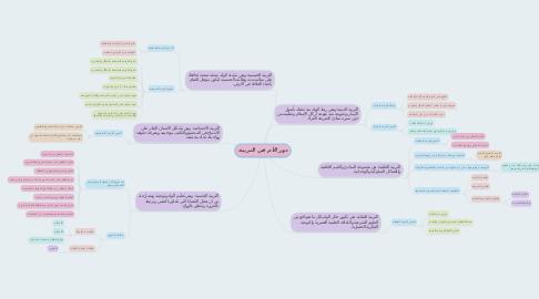 Mind Map: دور الأم في التربية